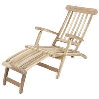 Deckchair Liegestuhl Gartenliege Liege Sonnenliege 3-fach verstellbar Teak