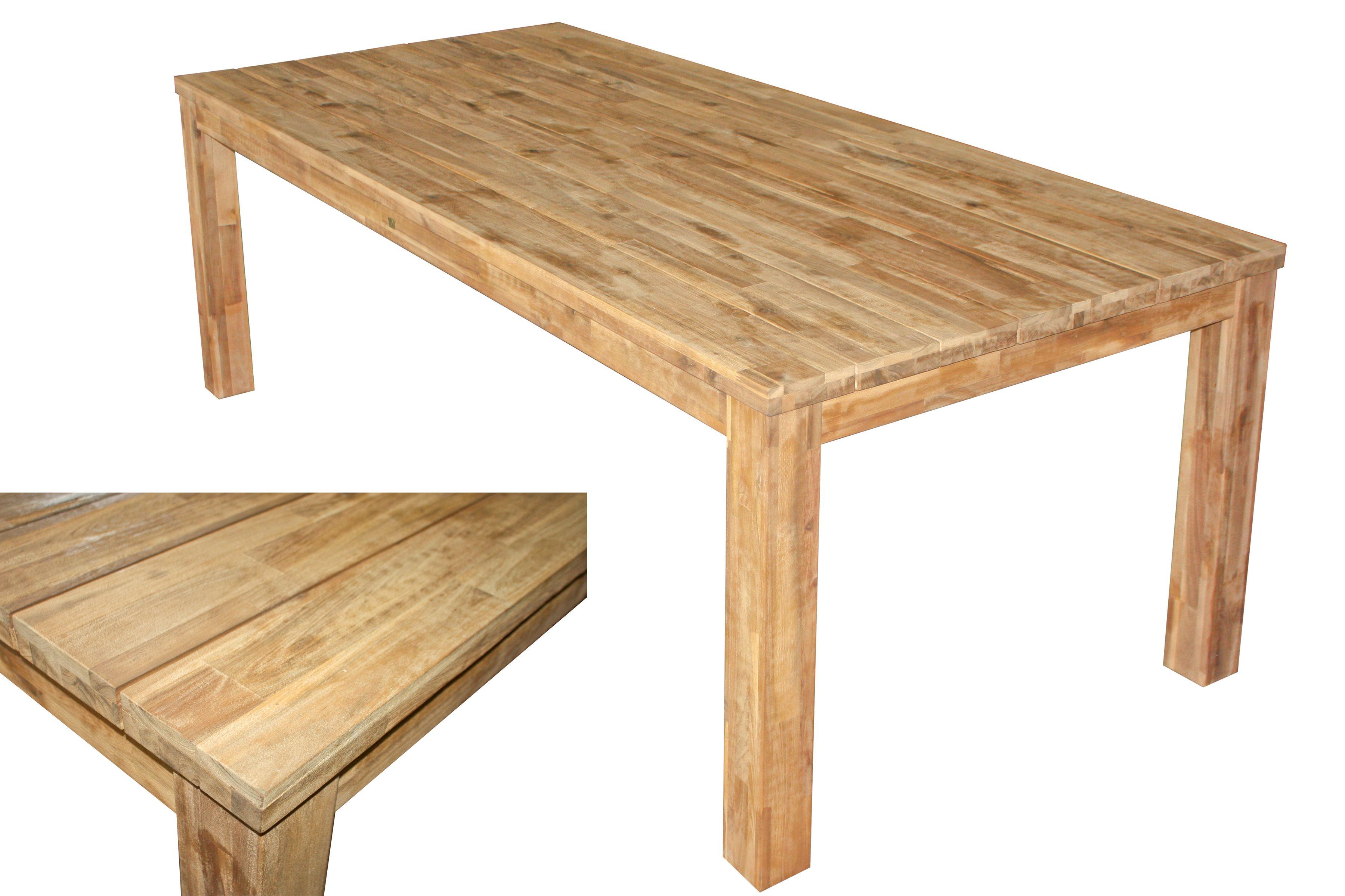 Tisch Kuchentisch Esstisch Gartentisch Holztisch Akazie Holz 220 X