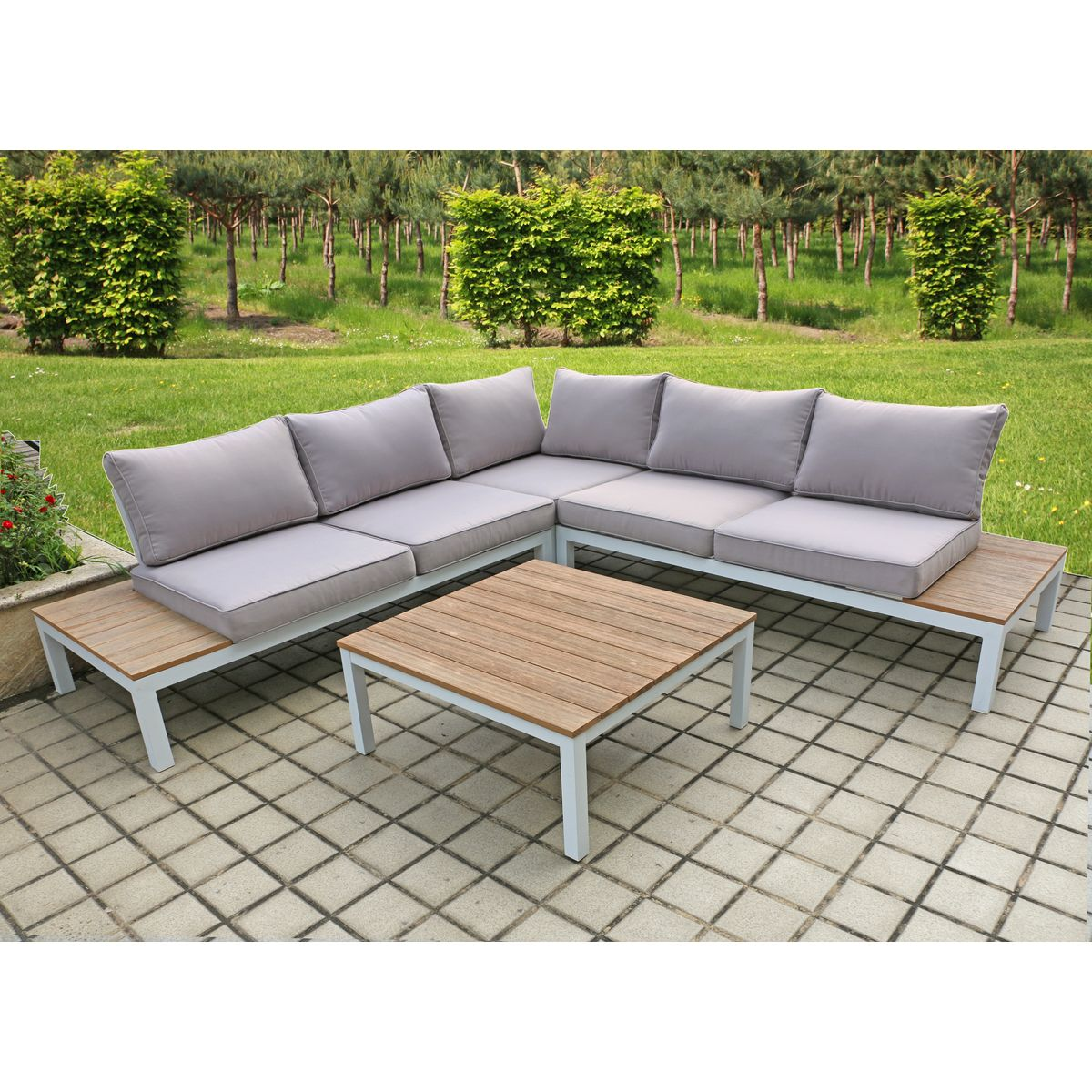 4 Tlg Lounge Set Sitzecke Sitzgruppe Tischgruppe Gartengruppe Bank Sofa Garten