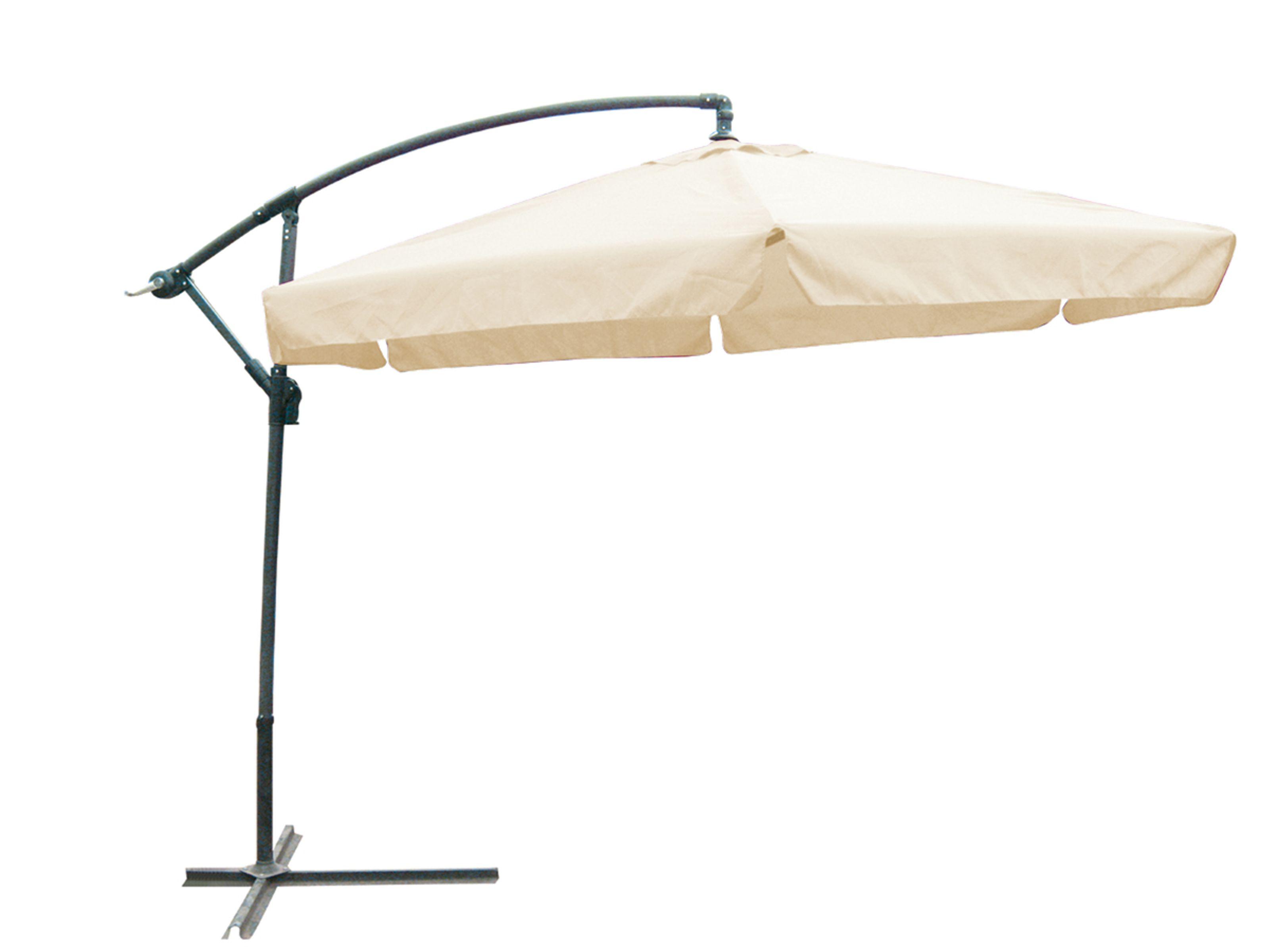 ampelschirm sonnenschirm sonnenschutz gartenschirm mit fu creme 300 cm ebay. Black Bedroom Furniture Sets. Home Design Ideas