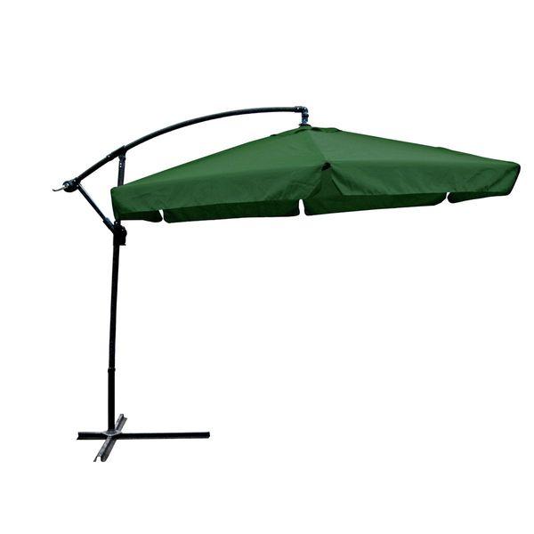 ampelschirm sonnenschirm sonnenschutz gartenschirm mit fu gr n 300 cm garten baumarkt. Black Bedroom Furniture Sets. Home Design Ideas