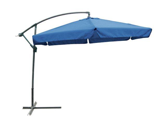 ampelschirm sonnenschirm sonnenschutz gartenschirm mit fu blau 300 cm garten baumarkt. Black Bedroom Furniture Sets. Home Design Ideas