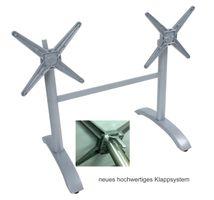 Tischgestell Gestell Tisch Halter Garten Doppelwangen klappbar Rechteckig