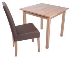 2er Set Sessel Stuhl Küchenstuhl Esszimmerstuhl Esszimmer Holz gepolstert Braun