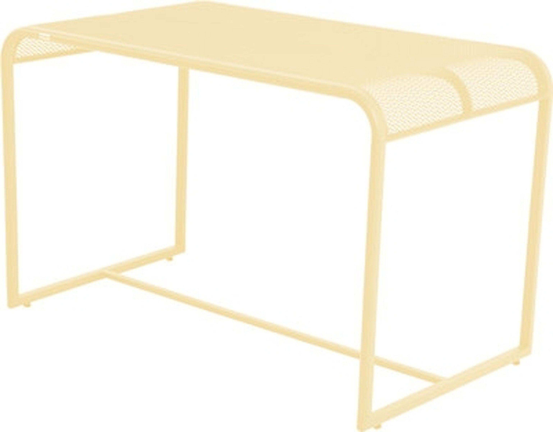 Balkontisch Gartentisch Tisch Metalltisch Beistelltisch Metall Gelb