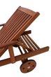 Sonnenliege Gartenliege Liegestuhl Rollliege Sunlounger Liege Eukalyptus Holz Bild 4