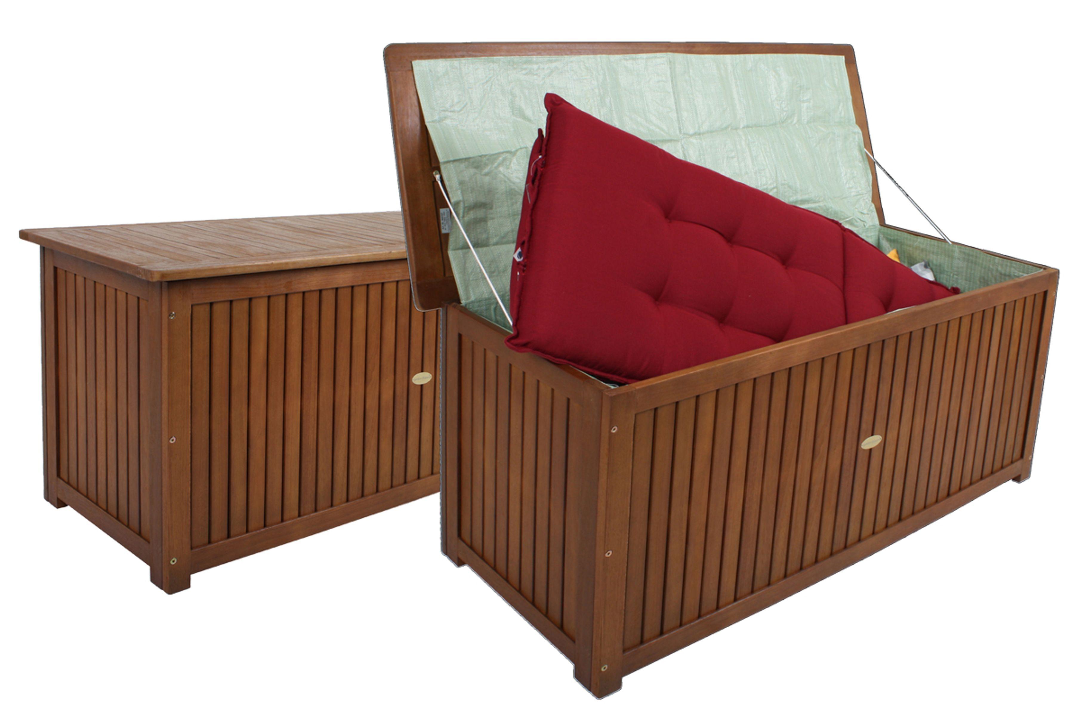 auflagenbox holzkiste auflagenkiste staubox kiste box aufbewahrung auflagen holz garten. Black Bedroom Furniture Sets. Home Design Ideas