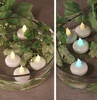 Schwimmfähige LED-Teelichter Teelicht Schwimmkerze Warm Weiß Farbwechsel