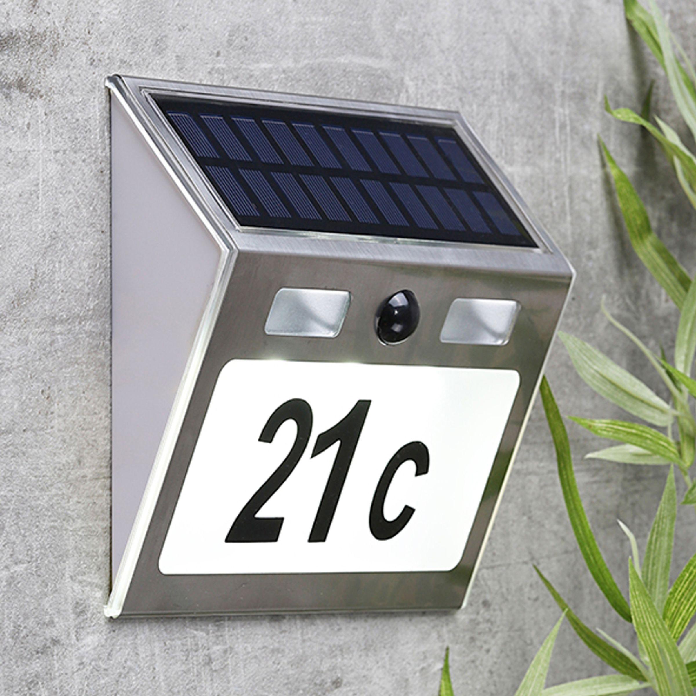 Hausnummer Solar Led : led solar hausnummer nummer mit bewegungsmelder bewegungssensor ebay ~ Yuntae.com Dekorationen Ideen