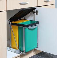 Teleskop Mülleimer Abfalleimer Einbaumülleimer Küchen Abfall Eimer 16 Liter