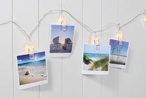 10 LED Lichterkette Foto Klammern Clips Deko Clip Beleuchtung Stimmungslicht