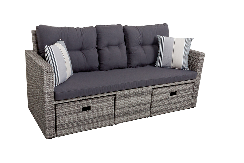 Top Lounge-Sofa Gartensofa Sofa Couch Outdoor Garten Terrasse inkl ND76