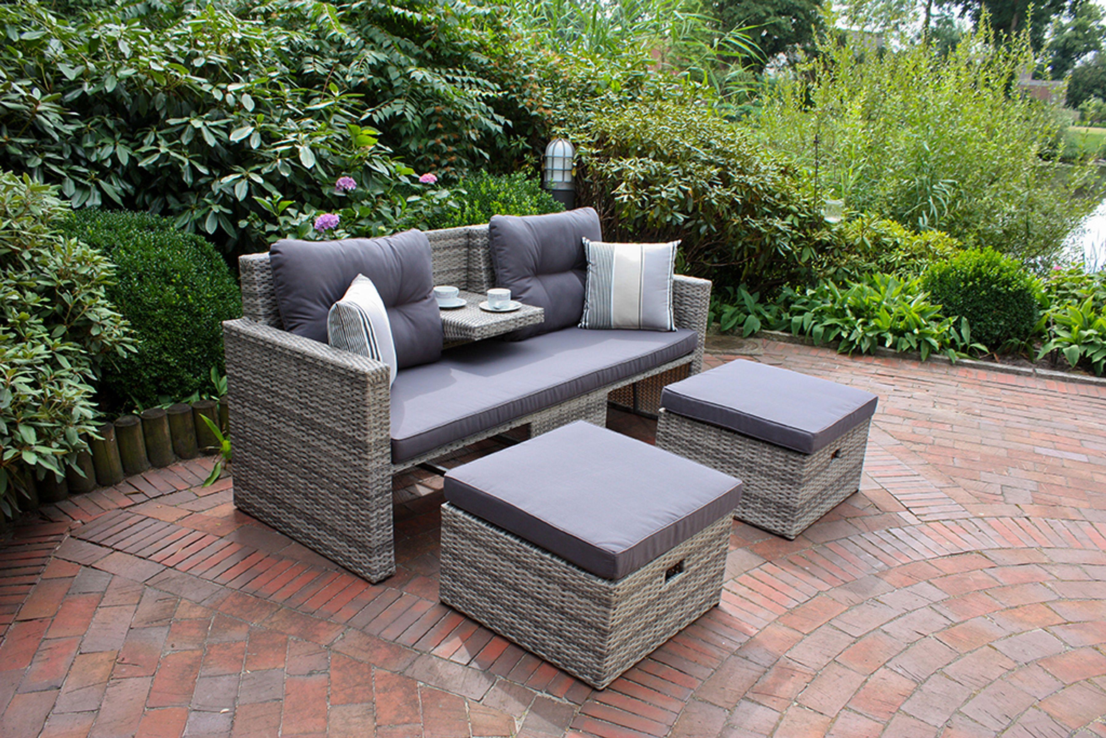 Lounge Sofa Gartensofa Sofa Couch Outdoor Garten Terrasse Inkl