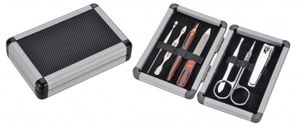 7tlg. Maniküre Set Nagelset Nagelpflege Nagelschere Nagelfeile im Aluminium Case