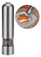 Elektrische Salz oder Pfeffermühle Salzstreuer Pfefferstreuer EDELSTAHL RUND