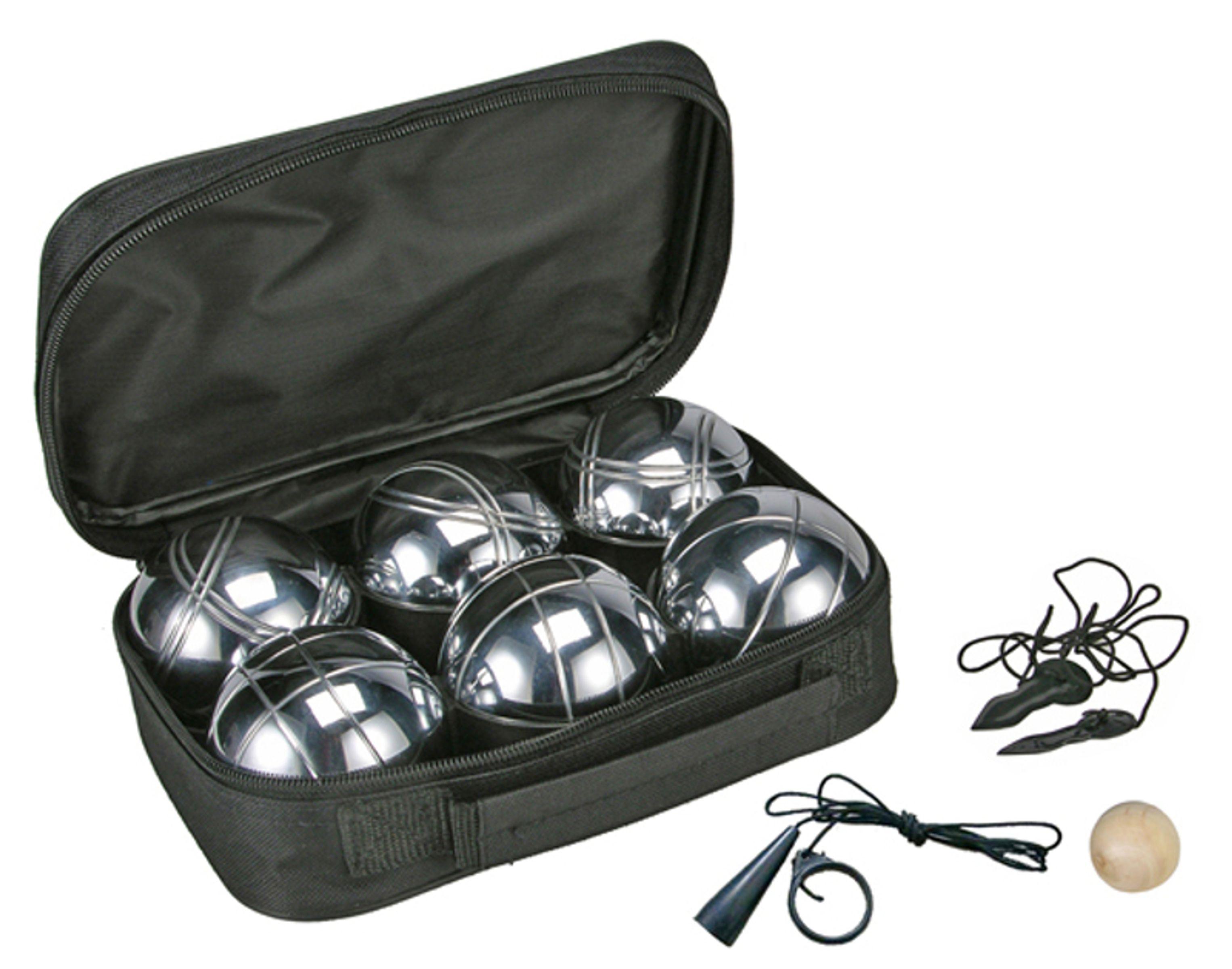 Details zu Boule Set Boccia Turnier Petanque Tasche Bouleset 6 Kugeln Metallkugeln
