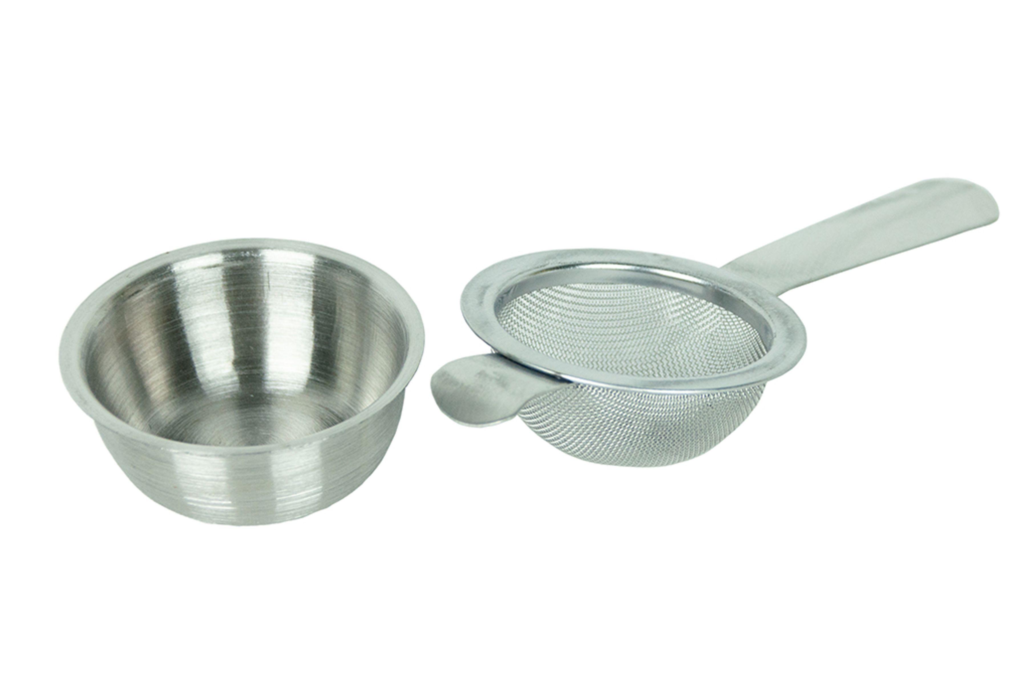 Küchensieb aus Edelstahl Nudelsieb mit Griffen 2 x Abtropfsieb Schüssel