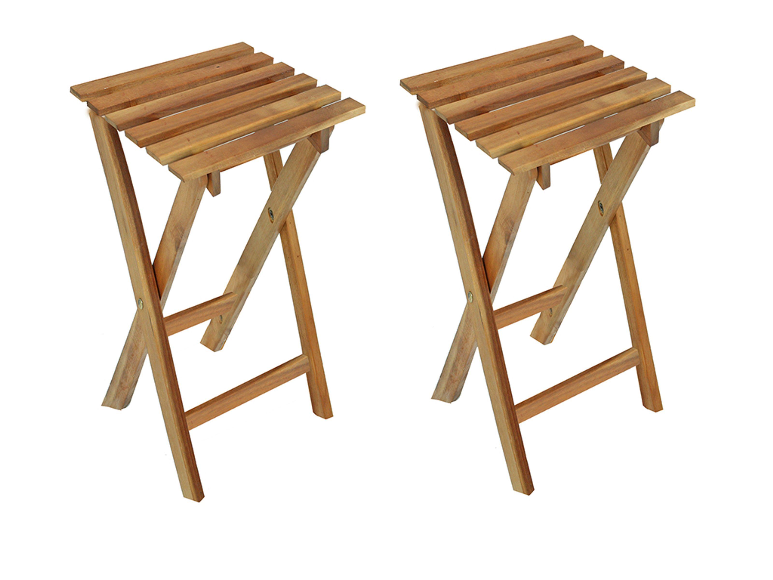 2er Set Hocker Klapphocker Holzhocker Thekenhocker Barhocker Klappbar Eukalyptus Haushaltswaren Mobel Und Freizeitartikel Gunstig Kaufen Auf Gravidus De